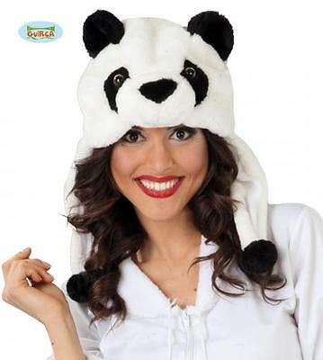 Cappello panda in peluche