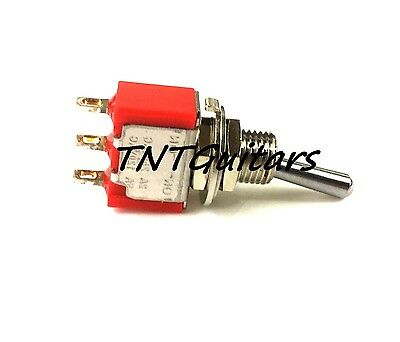MINI SWITCH, TWO WAY TOGGLE Style, 2 Way SPST Selector, On-Off OR On-On, CHROME