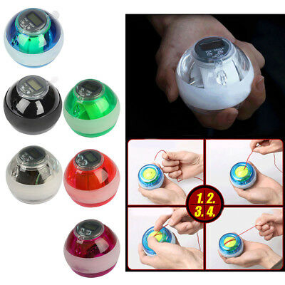 LED Hand Gyro Moto Ball Wrist Strength Exercise grips for Motocross Motorbike
