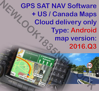 iGO GPS Navigation Software for ANDROID + 2016 Q3 MAP US CA Download only