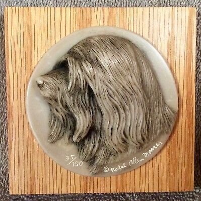 Tibetan Terrier 3 Dimensional Plaque - Lot Ralph Massey