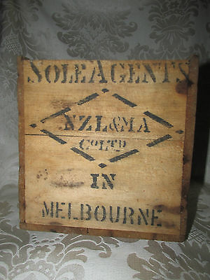 Vintage Ceylon Tea Wood Crate Box Choicest Broken Orange Pekoe NZL&MA Melb.