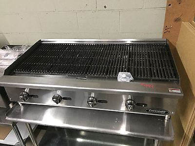 "48"" Char Broiler Grill 4 Burner Charbroiler Radiant Natural LP NEW 4' Charcoal"
