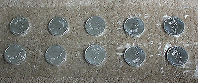 Rcm Mint Sealed Sheet Of 10 2002 Canada $5 Silver Maple Leaf Coins