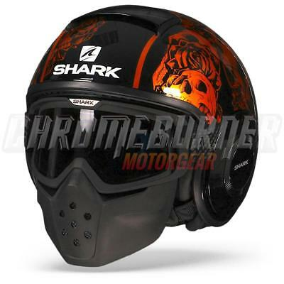 SHARK Raw / Drak Sanctus KOO Black Orange, Motorcycle Helmet, NEW!