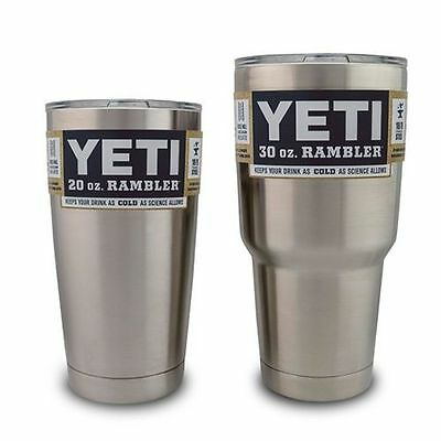 Yeti Cooler Bilayer Stainless Steel Insulated Travel Cup 30/20oz Rambler Tumbler