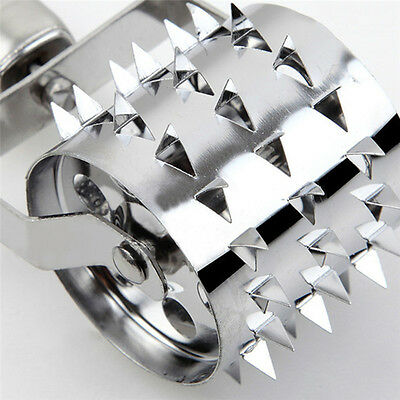 Meat Roller Tenderizer Steak Meat Roller Needle Spiked Stainless Steel Tool