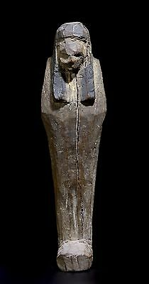 Fine Ancient Egyptian Wooden Shabti - 19th Dynasty