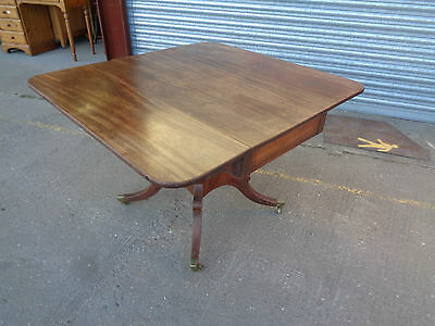 A Regency Mahogany Breakfast Table Occasional Side End Table Drop Leaves Antique