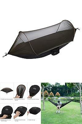 NEW Military Travel Camping Tent Parachute Hanging Hammock w POP UP Mosquito Net