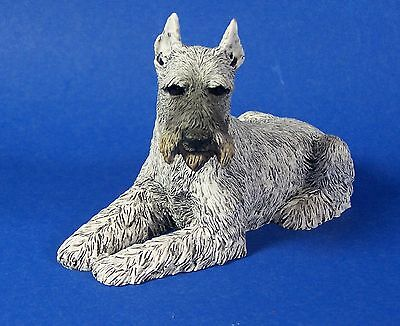Schnauzer Figurine Gray Dog Vintage Castagna 1988 Made in Italy