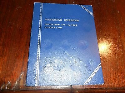 Nice  Canada Whitman Folder For Canadian 25 Cents Coin 1911-1952