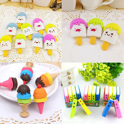 1/2/4/5Pcs Funny Cute Pencil Eraser Rubber Novelty Toy For Children Kids