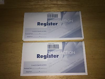 Check Registers - Lot of Two (2) - New - Never Used