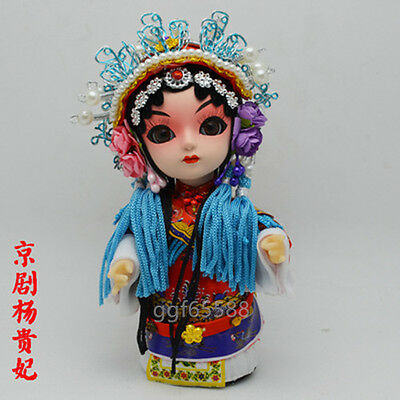 Chinese Handmade Raw Silk Peking Opera Figure Doll Ornament Home Decor Gift 2#