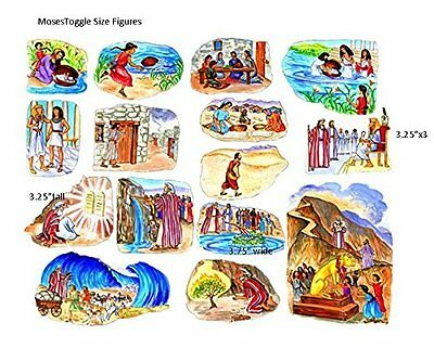 Moses Old Testament Bible Story Felt Figures Flannel Board precut Toggle Size