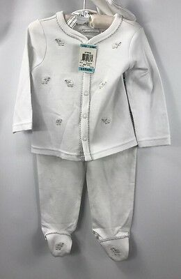 First Impressions Baby Boy Girl 3-piece White Lamb Shirt Pants Hat NWT size 6-9m