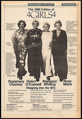 4 GIRLS 4__Orig. 1980 large Trade AD promo / poster__ROSE MARIE_ROSEMARY CLOONEY