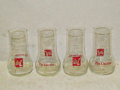 Lot of 4 7-UP The Uncola Soda Glasses