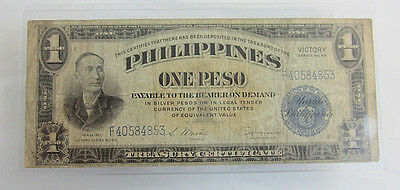 Victory Philippines One Peso Treasury Certificate #30858