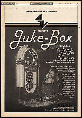 JUKE-BOX__TWIGGY__Original 1978 Trade print AD / TV series promo__music_Jukebox