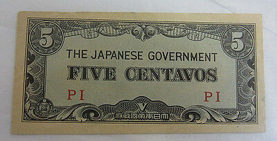 The Japanese Government Five Centavos -- # 43415 -- Free Shipping *