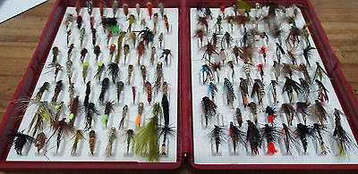 Massive Bulk lot of 133 hand tied Trout flies - fishing flys - Collectors Dream!