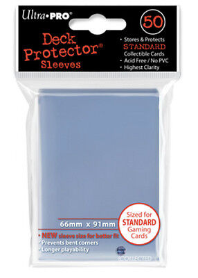 50ct Clear Deck Protector Sleeves Pokemon MTG Card Ultra Pro 66 x 91mm