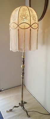 Stunning New Hand Crafted Cream Lace  Shade For Floor Lamp