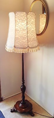 Stunning Large New Hand Crafted Cream Lace  Shade For Floor Lamp