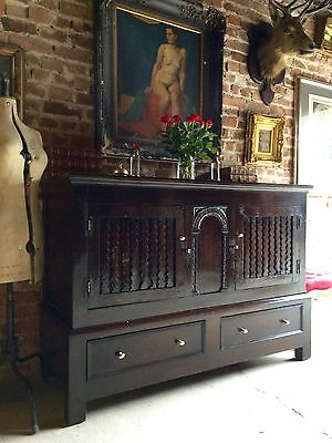 Magnificent Antique Oak Sideboard Credenza Carved Victorian19th Century Gorgeous