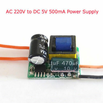 1PCS AC 220V to DC 5V 500mA Step-Down Isolated Switching Power Supply Module