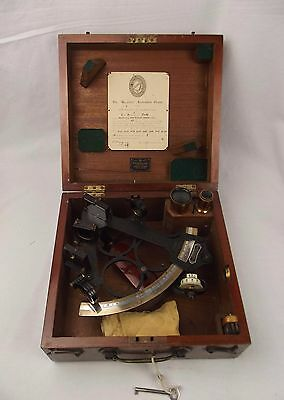 1934 Cased Heath & Company Hezzanith Three Circle Frame Sextant