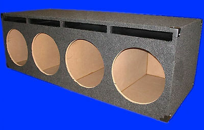 "4 Four Hole 10"" Ported Vented Grey Chambered Subwoofer Sub Enclosure Box"