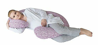 Motherhood Sleepy-C Pregnancy and Nursing Maternity Support Pillow Lilac Leaves