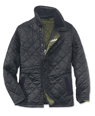 BARBOUR Alberts Quilt Navy Blue Field Jacket Sz M/44