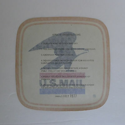 US MAIL Box - Postal Service Reflective Decal Sticker Label 5 July 1977