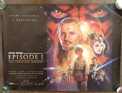Star Wars Episode 1 The Phantom Menace Original Movie Quad Film Poster
