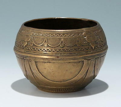 Indian Dokra Brass Bowl from Orissa - 19th C.         #as123