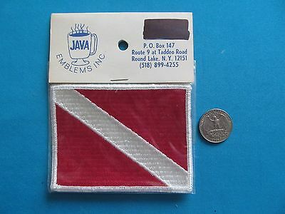 1 Vintage Scuba Diving Rescue Security Flag Snorkeling Patch Crest Emblem Mip