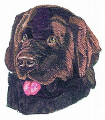 "Newfoundland Dog, Embroidered Patch 5.4"" x 6.2"""