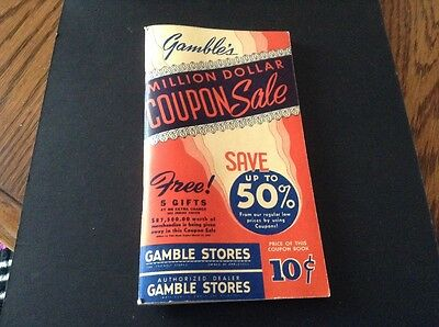 Vintage 1942 GAMBLES Coupon Book Unused 71 pg. Collectible Advertising