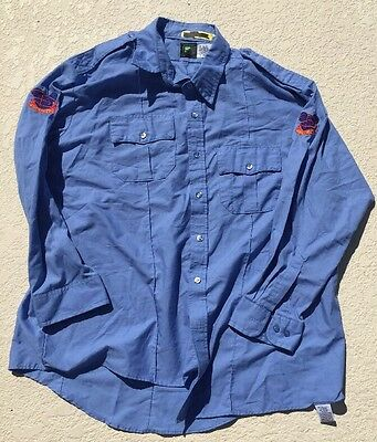 WDW Disney World SECURITY uniform CAST MEMBER UNIFORM LONG SLEEVE SHIRT PROP XXL