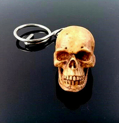 Skull Human Key ring Biker Car Bag Head Resin Keychain Accessory Collectibles