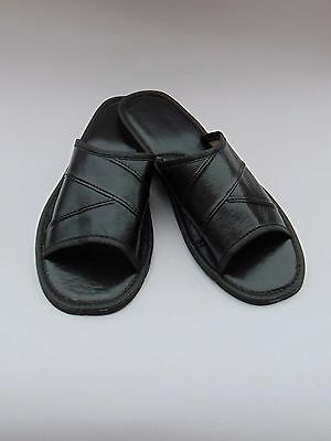 Mens soft Leather Slippers ***GENUINE EU PRODUCT*** sizes 8,9,10