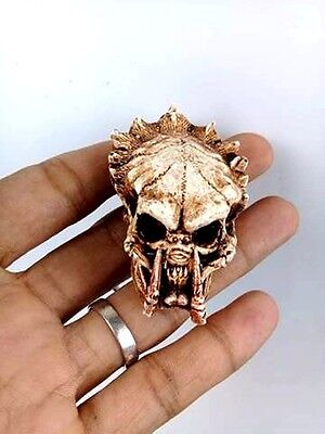 Predator Skull Key ring Alien Hunter DIY Horror Figure Keychain Face Biker New