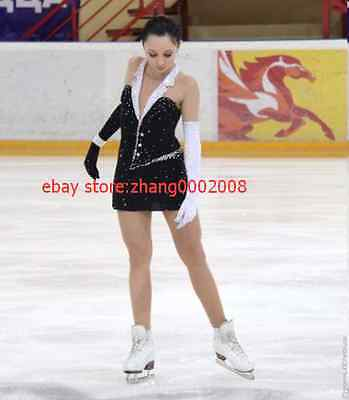 Beautiful Ice Figure Skating dress.Competition Twirling Dance Costume.
