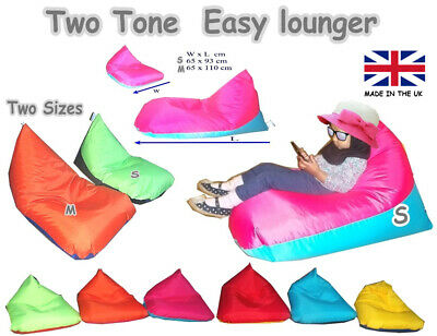 Kids Lounger / Beanbag / Cushion - Choose Colour Combi - In/Outdoor - MADE IN UK