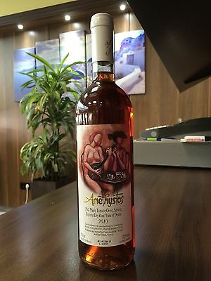 Greece Amethystos Rose Wein wine Flasche full and sealed wine bottle 2010
