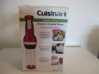Cuisinart CCP-10MR Electric Cookie Press with 12 Discs and 8 Designer Tips